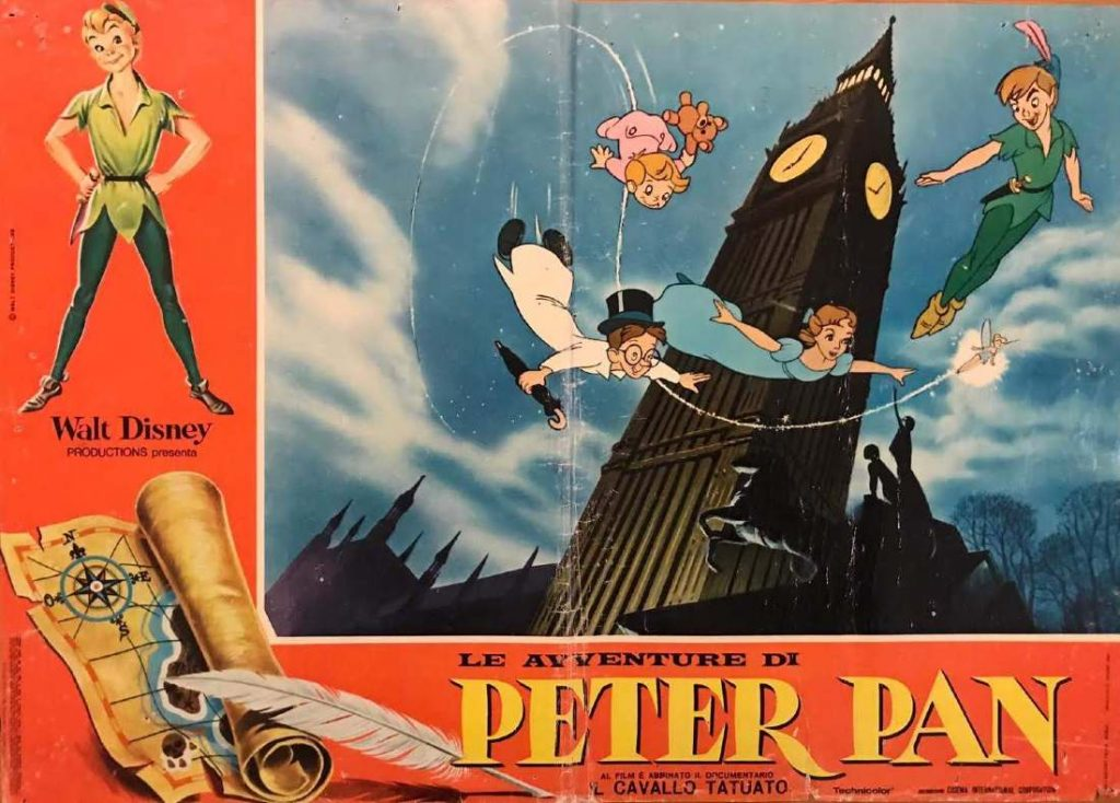 fotobusta peter pan cartoon