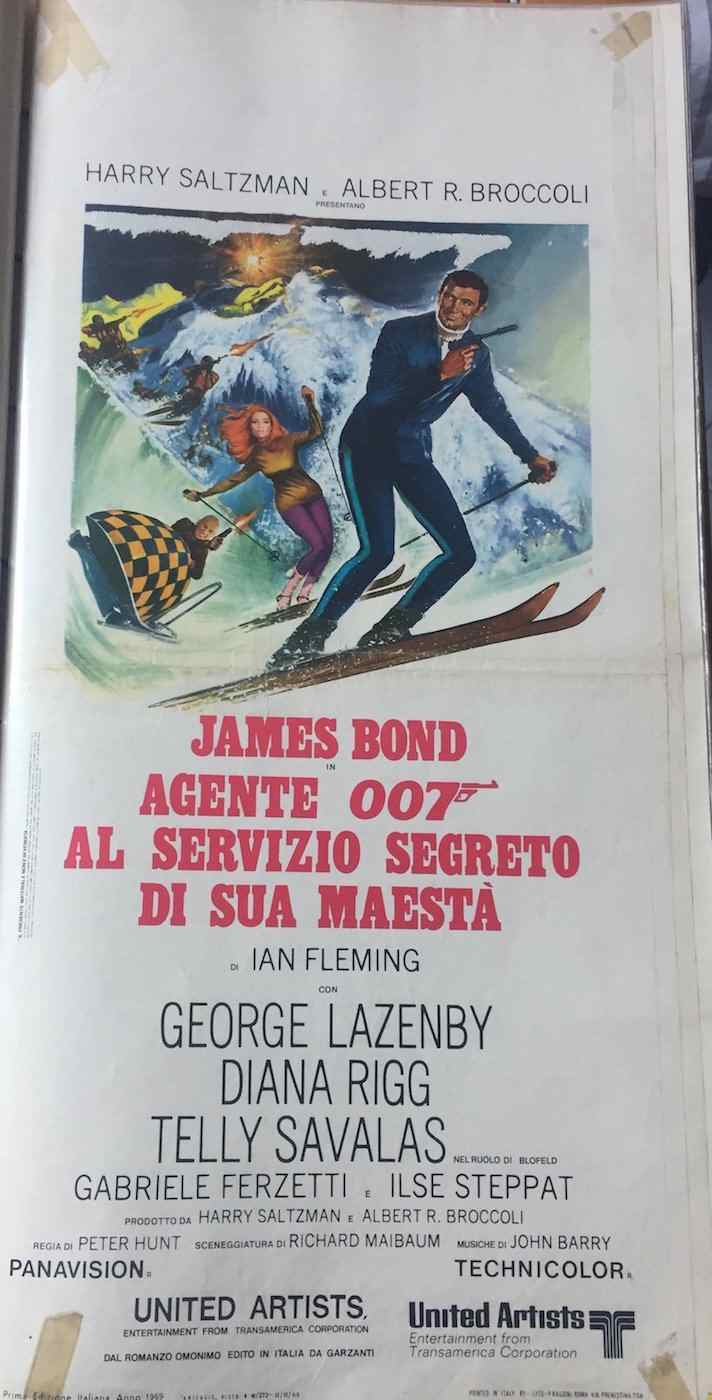 Locandina James Bond Agente 007 al servizio segreto di sua maestà