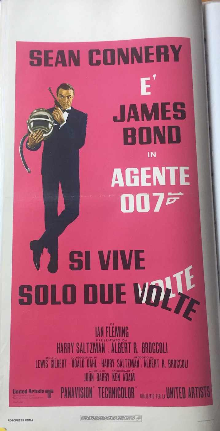 Locandina James Bond Agente 007 si vive solo due volte