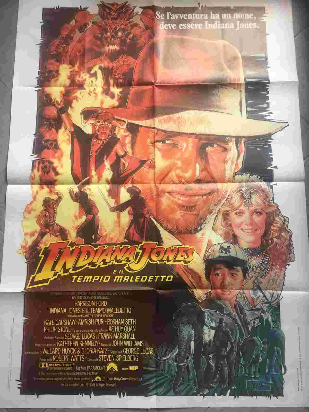 manifesto Indiana Jones e il Tempio Maledetto