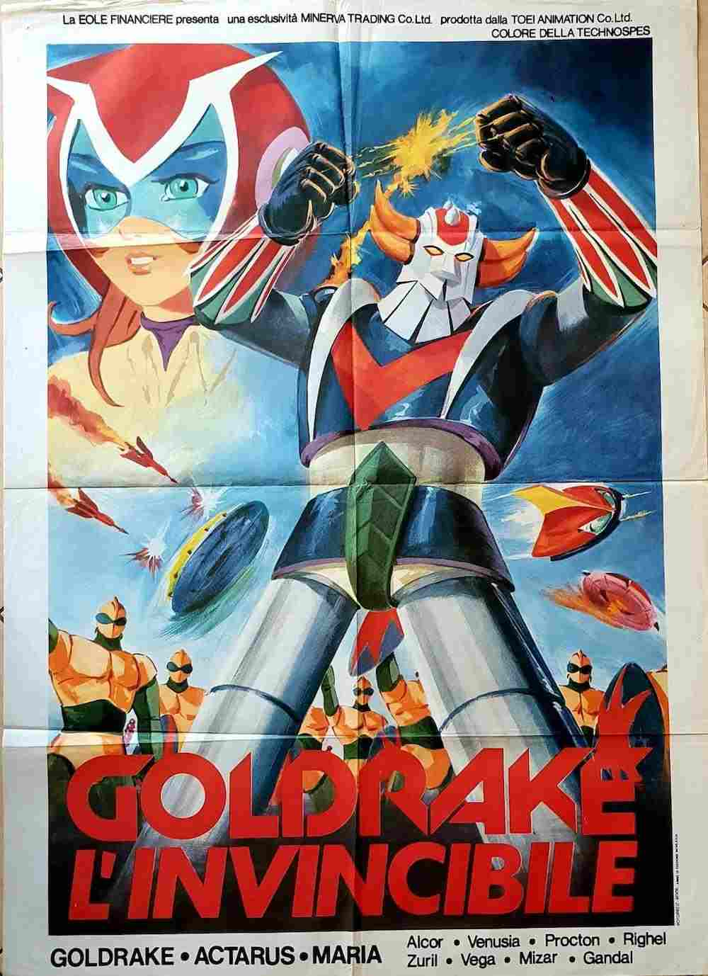 manifesto Goldrake L'Invincibile